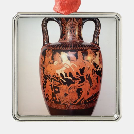 Attic red figure amphora metal ornament