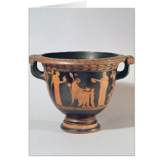 Attic red-figure bell krater, c.450-440 BC Greeting Card