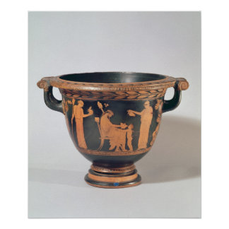 Attic red-figure bell krater, c.450-440 BC Poster