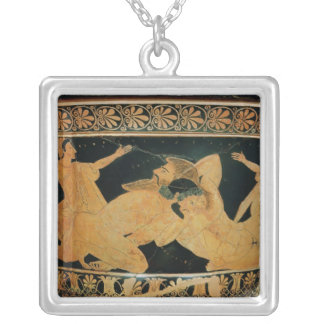 Attic red-figure calyx-krater 2 silver plated necklace