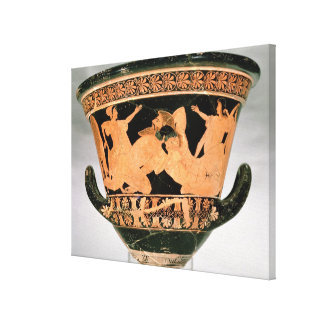 Attic red-figure calyx-krater depicting Herakles W Gallery Wrapped Canvas