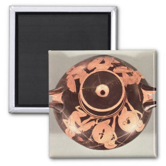 Attic red-figure cup 2 inch square magnet