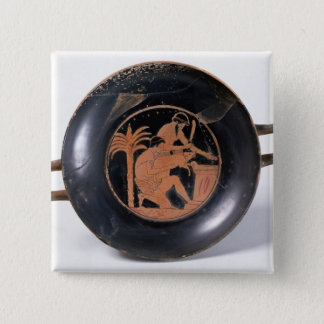Attic red-figure cup pinback button