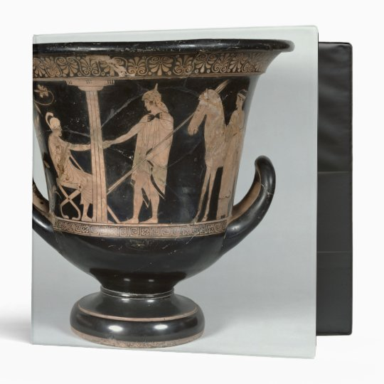 Attic red-figure kalyx krater 3 ring binder