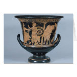 Attic red-figure kalyx krater greeting card