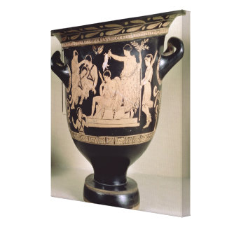Attic red-figure krater depicting Orestes as suppl Gallery Wrapped Canvas