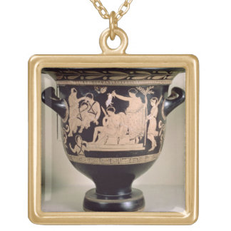 Attic red-figure krater depicting Orestes as suppl Gold Plated Necklace