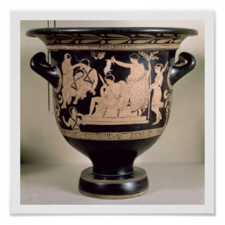 Attic red-figure krater depicting Orestes as suppl Posters