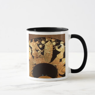 Attic red figure kylix depicting Dionysus and the Mug