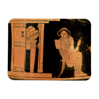 Attic red figure pyxis depicting a bride, 5th cent magnet