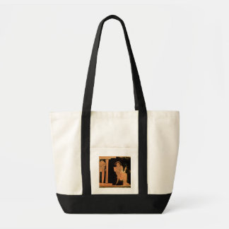 Attic red figure pyxis depicting a bride, 5th cent tote bag