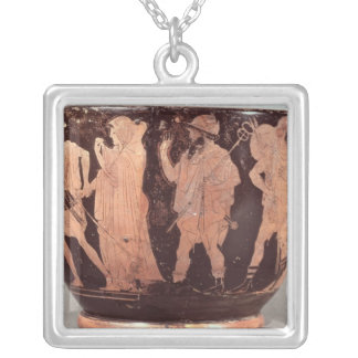 Attic red figure skyphos necklaces
