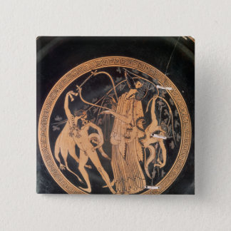 Attic red-figure vase pinback button
