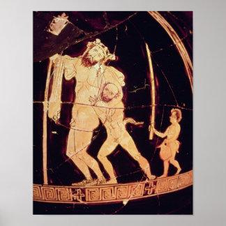 Attic red-figure vase poster
