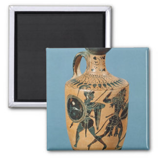 Attic Style Lekythos 2 Inch Square Magnet
