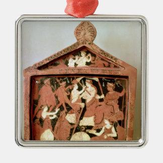Attic votive tablet metal ornament