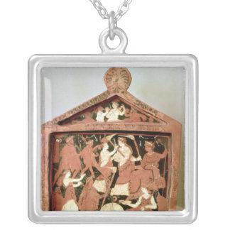 Attic votive tablet square pendant necklace