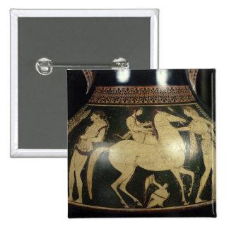Attic white-figure amphora pinback button