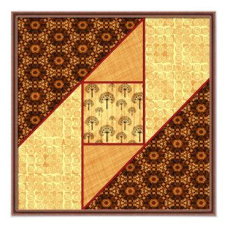 Attic Window in Rust & Gold Card