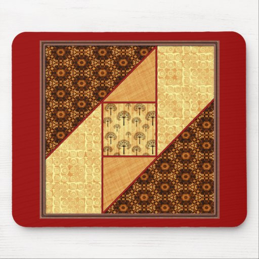 Attic Window in Rust & Gold Mouse Pad