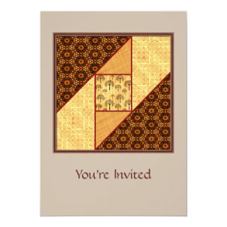 Attic Window Rust and Gold Card