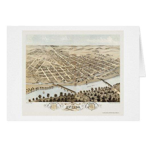 Attica, IN Panoramic Map - 1869 Card