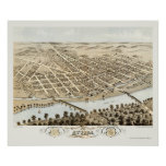 Attica, IN Panoramic Map - 1869 Poster
