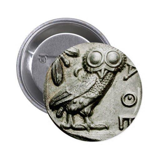 Attica Tetradrachm Owlthena Button