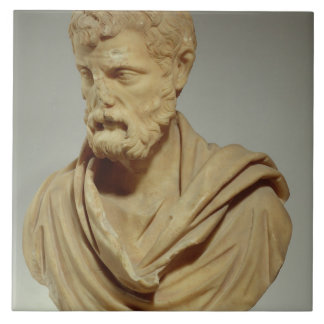 Atticus de Herodes, cabeza de mármol, romana, 101- Azulejo Cuadrado Grande