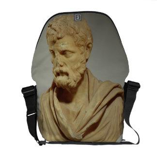 Atticus de Herodes, cabeza de mármol, romana, 101- Bolsa De Mensajería