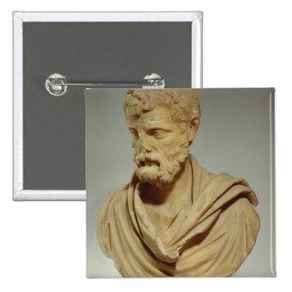 Atticus de Herodes, cabeza de mármol, romana, 101- Pin Cuadrada 5 Cm