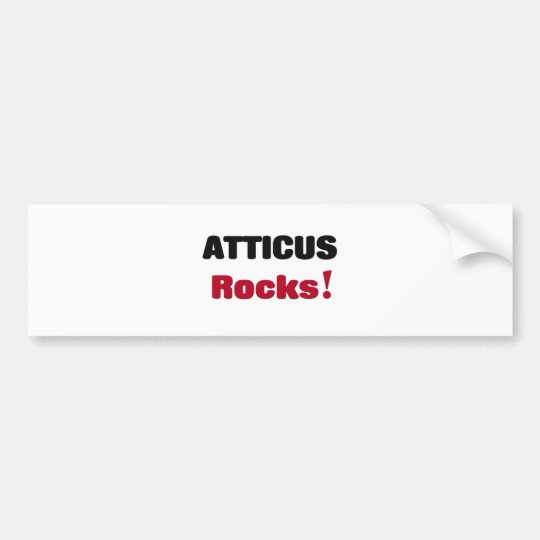 Atticus Rocks Bumper Sticker