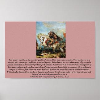 Attila el Hun en la administración Póster