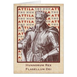 Attila el Hun Hunnorum Rex flagelo Dei Tarjeta