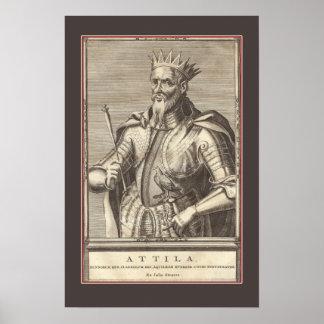 Attila el Hun, látigo de dios con la frontera Póster