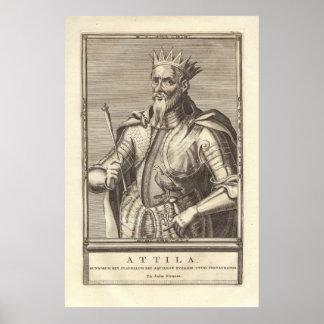 Attila el Hun, látigo de dios, de la impresión ant Póster