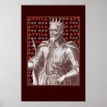 Attila el Hun - poster antiguo llamativo de la ima
