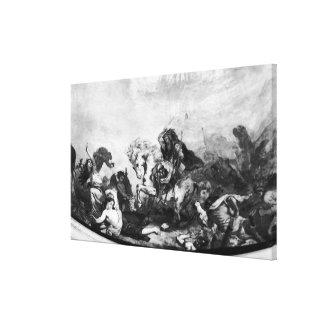 Attila el Hun y sus hordas Lona Estirada Galerias