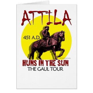 """Attila """"Huns en tarjetas de felicitación del viaje"""