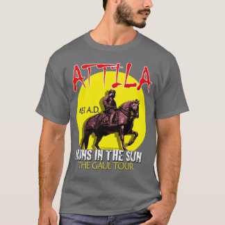 "Attila ""Huns en viaje del Sun"" (la oscuridad de Playera"