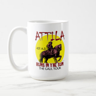 "Attila ""Huns in the Sun Tour"" Mugs/Glass Coffee Mug"