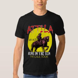 """Attila """"Huns in the Sun"""" Tour (Women's Dark) Tee Shirt"""