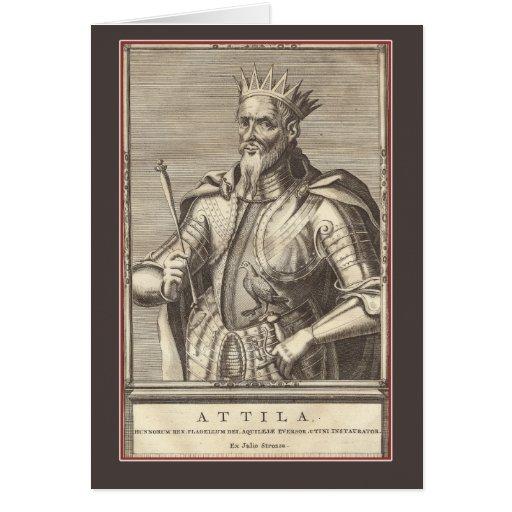 Attila, rey de los Huns, látigo de dios Tarjeta