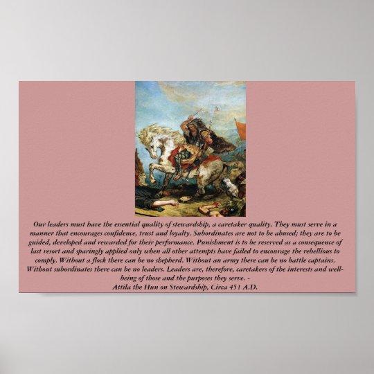 Attila the Hun on Stewardship Poster
