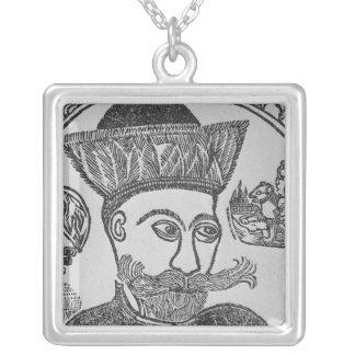 Attila the Hun Square Pendant Necklace