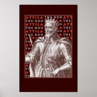 Attila The Hun - Striking Antique Image Poster
