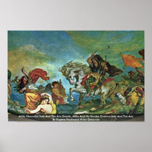 Attila Überreitet Italia y los detalles de los art Poster