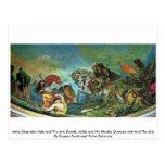 Attila Überreitet Italia y los detalles de los art Postales
