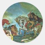Attila Überreitet Italia y los detalles de los Pegatina Redonda