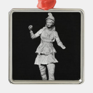 Attis dancing, Hellenistic period Square Metal Christmas Ornament